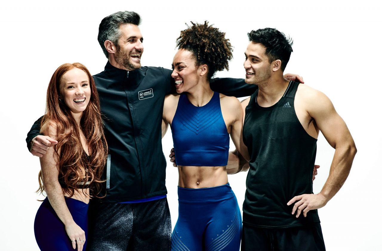 The fitness team at Fiit. Gede Foster, Sammi Adhami, Adrienne Herbert and Sean Kazaab.